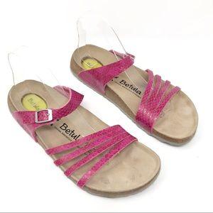 Betula Burma Pink Snake Print Sandals